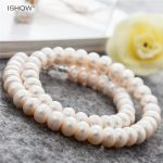 Women Luxury Button Shape Freshwater Pearl Necklace Beaded <b>Wedding</b> <b>Jewelry</b> Silver Plated Short Chain Choker Necklaces Collares