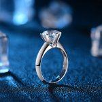 6-Claw Classical 1.0ct Solitaire Engagement Ring Wedding Band for Women 18K White Gold <b>Handmade</b> GIA Diamond <b>Jewelry</b>
