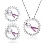 SNH AAA 8-9mm drop freshwater pearl 925 sterling <b>silver</b> Pendant & <b>Earrings</b> set natural pearl jewelry sets free shipping
