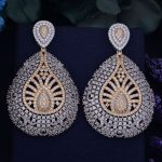 GODKI 65mm Luxury Trendy Water Drop Geometry Full Mirco Cubic Zirconia Setting Naija <b>Wedding</b> Women Earring Fashion <b>Jewelry</b>