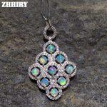 Natural Fire Opal Necklace Genuine Solid 925 <b>Sterling</b> <b>Silver</b> Women Gem Fne <b>Jewelry</b> Stone Pendant