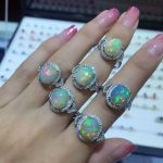 Natural Transparent opal Ring Natural gemstone Ring S925 <b>sterling</b> <b>silver</b> trendy Luxury Triangle women party gift <b>Jewelry</b>