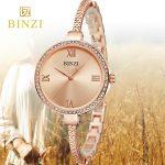 BINZI <b>Bracelet</b> Watch Women Ladies Wrist Watches Quartz Wristwatch Female Clock Relogio Feminino Rose Gold <b>Silver</b> 2018 Creative