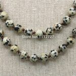 8mm Natural Spot Round Beads Necklace Chain Women Girls Christmas Gifts Hand Made DIY <b>Jewelry</b> <b>Making</b> Stones Balls Gifts 36inch