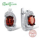 SANTUZZA <b>Silver</b> Earrings For Women 925 <b>Sterling</b> <b>Silver</b> Stud Earrings <b>Silver</b> 925 with Stones Cubic Zirconia brincos <b>Jewelry</b>