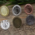 100pcs Cabochon 18.5*25.5mm OVAL Pad ring blank Cameo Tray,Bronze/Gold/Silver Ring setting,<b>Handmade</b> DIY Zakka <b>jewelry</b> Finding