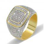 New Hot !! Fashion Fine Excellent <b>Jewelry</b> Copper 18 K True Gold-plating Zircon Dazzling Gift <b>Wedding</b> Bride Rings For Women