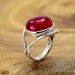 KJJEAXCMY fine <b>jewelry</b> S925 pure silver <b>jewelry</b>, fashion, pure <b>handmade</b> lady red corundum ring, jade hand.