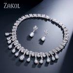 ZAKOL Gorgeous Marquise & Round Cubic Zirconia <b>Jewelry</b> Set Africa Style For Bridesmaid Dinner Dress <b>Jewelry</b> FSSP067