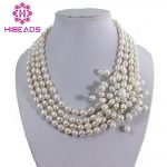 Hot Sale Freshwater Pearl <b>Jewelry</b> Necklace Rice Pearl Beads Necklace Handmade <b>Wedding</b> Necklace Unique Item PJ003