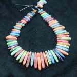 High Quality Rainbow Gems Stone Necklace Point Pendant Beads, Top Drilled Women Fashion <b>Jewelry</b> Spike DIY <b>Making</b> Finding Gems