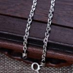 Real 925 Sterling <b>Silver</b> 3mm Rectangle Link Chain <b>Necklace</b> 18″ 20″ 22″ 24″ 26″ Fine Jewelry