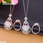 KJJEAXCMY Fine jewelry, 925 <b>silver</b> inlaid natural white jade set, simple and generous wholesale female models