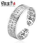 Beier 925 Sterling <b>Silver</b> <b>Bracelet</b> fashion trendy high quality the heart sutra <b>bracelet</b> man and women <b>bracelet</b> BR925SZ045