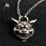 Custom <b>Handmade</b> Sterling Silver Aging Treatment <b>Jewelry</b> Alice Madness Returns Cheshire Cat 925 Silver Pendant Necklace