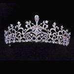 Paved CZ Crown Full Cubic Zircon Tiara Tiaras Diadema <b>Wedding</b> Hair Accessories Bride Hair <b>Jewelry</b> Bijoux Cheveux Coroa WIGO1078