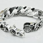 Thai <b>silver</b> original handmade <b>silver</b> jewelry 925 sterling <b>silver</b> domineering vintage Chain & Link <b>bracelets</b>