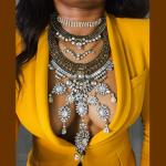 Dvacaman <b>Handmade</b> Individuality Vintage Crystal Choker Necklace Multilayer Vintage <b>Jewelry</b> 2016 Maxi Statement Necklace 9537