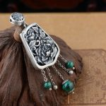 FNJ 925 <b>Silver</b> Peacock Pendant Natural Green Stone 100% Pure S925 Solid Thai <b>Silver</b> Pendants for Women Men <b>Jewelry</b> Making