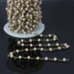 5Meter,Faceted Crystal Glass Rondelle Chains,Brass Plated Wire Wrapped Rosary style Chain,Women <b>Jewelry</b> <b>Making</b> 3x4mm