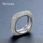 NEWBARK Vintage <b>Fashion</b> Women Rings Square Cubic Zirconia Wedding Bands Ring Eternity Rings Copper Cocktail Ring Party <b>Jewelry</b>