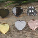 100pcs Cabochon 25mm Heart Pad ring blank Cameo Tray,Bronze/Gold/Silver Ring setting,<b>Handmade</b> DIY Zakka <b>jewelry</b> Finding