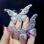 white multi color 925 <b>sterling</b> <b>silver</b> with cubic zircon butterfly brooch pins insect fashion women <b>jewelry</b> free shipping