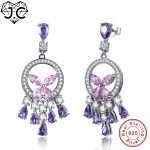 J.C Fashion Fine <b>Jewelry</b> Pink Amethyst Ruby Topaz Earrings Fine <b>Jewelry</b> Earrings Genuine 925 Standard <b>Sterling</b> <b>Silver</b> Earrings