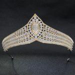 Luxurious Full 5A CZ Cubic Zirconia <b>Wedding</b> Bridal Gold&Silver Tiara Crown Women Girl Prom Party Hair <b>Jewelry</b> Accessories