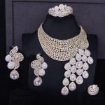 GODKI Big Luxury Peacock Tail Women Engagement Cubic Zirconia <b>Necklace</b> Earring Dubai <b>Jewelry</b> Set Jewellery Addiction