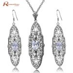 Fashion Birthday Party Jewelry Sets Zirconia 925 Sterling <b>Silver</b> Classic Drop <b>Earring</b> Pendant for Women Wedding Bridal Wholesale