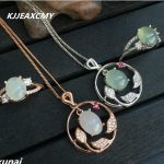 KJJEAXCMY Fine jewelry, 925 <b>silver</b> inlaid natural jade set, simple and generous wholesale woman