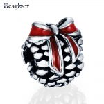 Beagloer New Spring Collection 925 Sterling Silver Red Bowknot Charm Fit <b>Handmade</b> Bracelets DIY <b>Jewelry</b> Gift Wholesale PSMB0115