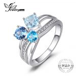 JewelryPalace 1.7ct Genuine Multi London Blue Topaz 3 Stones Ring Genuine 925 Sterling <b>Silver</b> <b>Jewelry</b> For Women Fine Party Gift