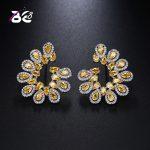 Be 8 2018 Shinny Water Shape Statement Earrings, Fashion Cubic Zirconia Stud Earrings for Women <b>Wedding</b> <b>Jewelry</b> E455