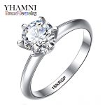 Fine <b>Jewelry</b> Real White Gold Ring With 18KRGP Stamp Gold Filled Rings Set 6mm SONA CZ Diamant Gold <b>Wedding</b> Rings For Women YS168