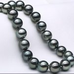 Eternal wedding Women Gift word 925 <b>Sterling</b> <b>silver</b> real 8mm natural big Natural Tahiti Black Pearl Necklace Color classificatio