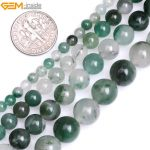 Gem-inside 4-10mm Natural Stone Beads Round Green Africa Chalcedony Beads For <b>Jewelry</b> <b>Making</b> Beads Bracelet 15inch DIY Beads