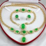 Women's Wedding women's <b>jewelry</b> green gem yellow Earring Bracelet Necklace Ring +(box) 5.27 silver <b>jewelry</b> brinco real silver