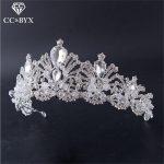 CC crowns and tiaras baroque style hair ornaments <b>handmade</b> wedding hair accessories for bridal women queen crown <b>jewelry</b> HG713