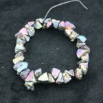 Freeship Titanium Rainbow Stone Necklace Point Pendant, Full Strand Nugget Find Beads Accessories <b>Jewelry</b> <b>Making</b>