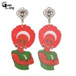 Stamped <b>Native</b> <b>American</b> Aboriginal Figure Wood Afro Earrings Brincos Indian Style <b>Jewelry</b> For Christmas Gift 6 Colors