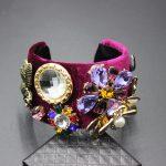 2017 new European American baroque catwalk models luxury bracelet set precious stones bee flowers geometric bracelet <b>jewelry</b> 294