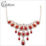 Romantic <b>silver</b> red coral necklace for wedding real natural precious coral <b>silver</b> necklace 925 <b>sterling</b> <b>silver</b> coral <b>jewelry</b>