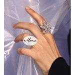 eManco Wholesale Fingers Gyro Size 7 Rings Snowflake Copper &Cubic Zircon Rings 2 Items Black& White Wedding 2018 <b>Jewelry</b>