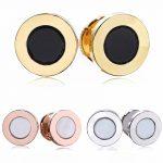 925 Sterling <b>Silver</b> Stud <b>Earrings</b> 3 Color Rose Gold Round Black Diy <b>Earrings</b> For Women Wedding Jewelry HER359