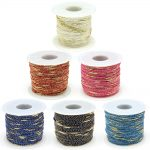 1.5mm Nylon Thread with Metallic Cord for Bracelets Beading Necklace DIY <b>Jewelry</b> Accessories <b>Making</b>, 1.5mm, about 100m/roll