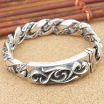925 <b>Sterling</b> <b>Silver</b> Personalized <b>Jewelry</b> Ancient Thai <b>Silver</b> men's Ancient Pattern Bracelet Trend New <b>Silver</b> Bracelet