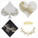 Elegant Lady Fashion Lace Flowers Crystal Pearl Beads for <b>Jewelry</b> <b>Making</b> Headbands Women Bridal Wedding Luxury Accessories Gift