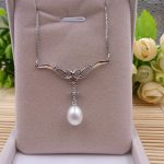 Sinya 925 sterling <b>silver</b> <b>Necklace</b> for women Genuine Natural freshwater Pearl fine jewelry Best Christmas brithday gift 2018